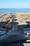Le scala di legno conducono alla spiaggia Immagine Stock Libera da Diritti