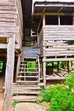 Le scala di una casa del paese Fotografia Stock
