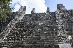 Le scala stagionate delle rovine maya antiche della costruzione del mA Immagine Stock