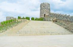 Le scale in fortezza Fotografie Stock Libere da Diritti