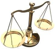 Le scale pesano l'equilibrio di scelta della giustizia Fotografie Stock Libere da Diritti