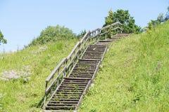 Le scale scalano la strada al cielo Immagini Stock