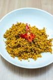 Le scalpore tailandesi fritte tritano la carne di maiale con le erbe Immagine Stock Libera da Diritti