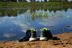 Le scarpe da tennis Fotografia Stock Libera da Diritti