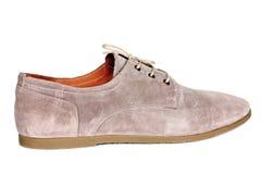 Le scarpe degli uomini beige Fotografie Stock