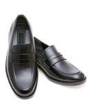 Le scarpe degli uomini di cuoio Immagine Stock
