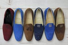 Le scarpe degli uomini di cuoio di estate Fotografie Stock Libere da Diritti