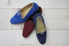 Le scarpe degli uomini di cuoio di estate Fotografia Stock