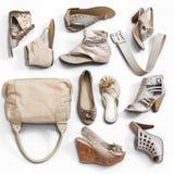 Le scarpe della donna immagini stock