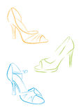 Le scarpe delle donne illustrazione di stock