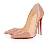 Le scarpe di beige Immagini Stock