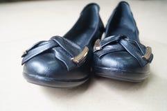 Le scarpe di cuoio delle donne Fotografia Stock Libera da Diritti