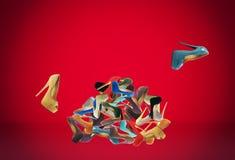 Le scarpe di molte donne Fotografie Stock