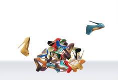 Le scarpe di molte donne Fotografia Stock Libera da Diritti