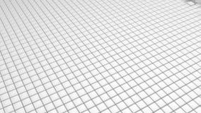 Le scatole commoventi astratte di bianco cuba il fondo 3d rendono illustrazione vettoriale