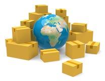 Le scatole di cartone Immagine Stock