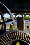 Le scene da James River Richmond Va di estate lungo isola del ` s di Brown e della reginetta accedono a fotografia stock