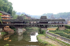 Le scene del villaggio di nazionalità di Dong Immagini Stock