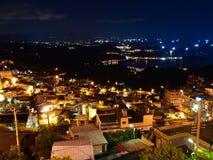 Le scene di notte della borgata di Rueifang Fotografia Stock Libera da Diritti
