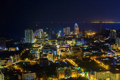 Le scene di notte nella città di Pattaya Fotografia Stock Libera da Diritti