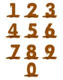 Le schéma dix de chocolat Chiffres de chocolat de vecteur illustration libre de droits