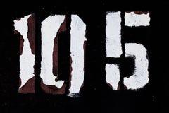 Le schéma 10 peinture du grunge 5 sur le blanc de noir en métal Photographie stock libre de droits
