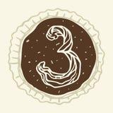Le schéma stylisé 3 de la crème de pâtisserie Photos libres de droits