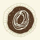 Le schéma stylisé 0 de la crème de pâtisserie Images stock