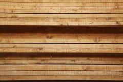 Le schede o le plance di legno hanno impilato Fotografia Stock Libera da Diritti