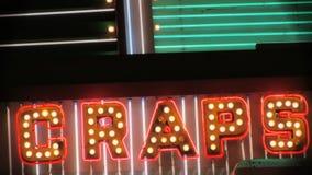 Le SCHIFEZZE firmano dentro Las Vegas al neon stock footage