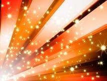 Le scintillement abstrait stars le fond orange Illustration de Vecteur