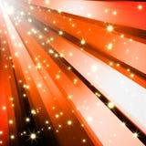 Le scintillement abstrait stars le fond orange illustration stock