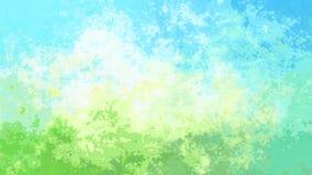 Le scintillement animé a souillé la vidéo sans couture de boucle de fond - effet de tache d'aquarelle - couleur de ressort de ble illustration de vecteur