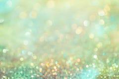 Le scintillement Colorfull de Bokeh a brouillé le fond abstrait pour l'anniversaire Image libre de droits