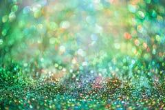 Le scintillement Colorfull de Bokeh a brouillé le fond abstrait pour l'anniversaire Image stock