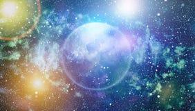 Le scintillement de la poussière d'étoile et de la poussière de lutin espacent le contexte Étoiles de l'espace et image conceptue Images stock