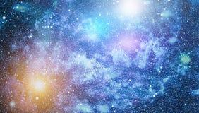 Le scintillement de la poussière d'étoile et de la poussière de lutin espacent le contexte Étoiles de l'espace et image conceptue Image libre de droits