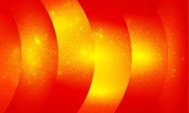Le scintillement rouge et jaune a donné au fond une consistance rugueuse d'effets de la lumière de fond, lumineux, brillants et photo libre de droits
