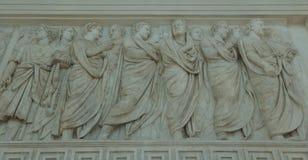 Le sculture sopra si alterano di pace a Roma immagine stock