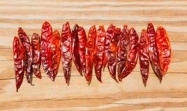 Le seco du Chili de arbol a séché le poivre chaud d'Arbol Image stock