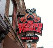 Le seconde fiddle, Live Entertainment Venue Nashville Fotografia Stock Libera da Diritti