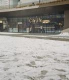 Le secteur d'achats de CityLife, ouvert en octobre 2017 est un centre commercial avec 100 boutiques dans le secteur de Tre Torri Images stock