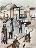 Le secteur de petite ville Illustration de Vecteur