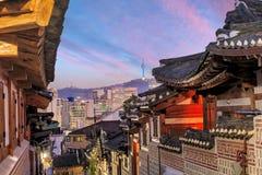 Le secteur historique de Bukchon Hanok photo stock