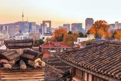 Le secteur historique de Bukchon Hanok images stock