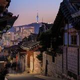 Le secteur historique de Bukchon Hanok photo libre de droits