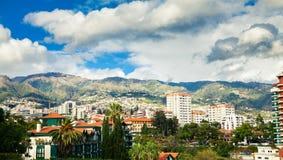 Le secteur résidentiel de Funchal Photographie stock