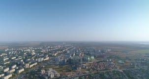 Le secteur suburbain de dortoir de vue aérienne de la ville d'Odessa a appelé Poselok Kotovskogo banque de vidéos