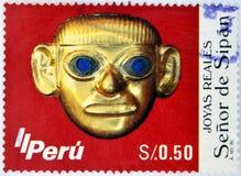Le seigneur de Sipan Images libres de droits