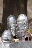 Le seigneur des boucles : Casques de Gondor Photographie stock